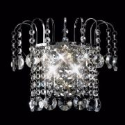 Rosina Wall Light in Polished Chrome and Crystal, Switched - DIYAS IL31052